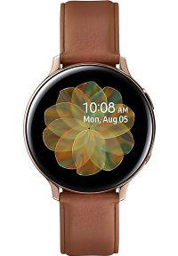 SAMSUNG - Smartwatch Samsung Galaxy Watch Active 2 Stainless Steel Gold 44mm Brązowy (SM-R825FSDADBT). Rodzaj zegarka: smartwatch. Kolor: brązowy