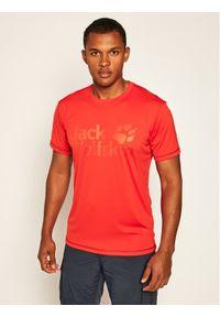 Czerwona koszulka sportowa Jack Wolfskin