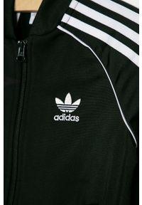 Czarna bluza rozpinana adidas Originals na co dzień, bez kaptura, casualowa