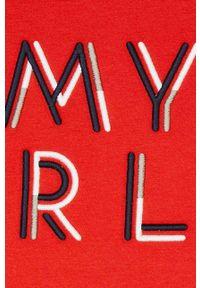 Czerwony t-shirt Mayoral z aplikacjami, na co dzień