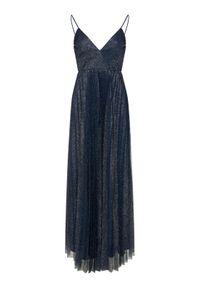 Niebieska sukienka wieczorowa Liu Jo