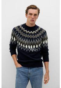 Niebieski sweter Mango Man casualowy, na co dzień