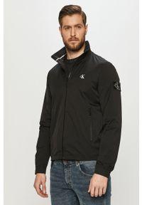 Czarna kurtka Calvin Klein Jeans gładkie, bez kaptura, casualowa, na co dzień