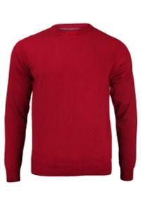 Czerwony sweter Adriano Guinari klasyczny, do pracy