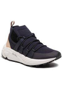 Niebieskie sneakersy Max Mara na co dzień, z cholewką