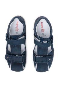 Niebieskie sandały Superfit z aplikacjami