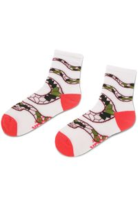 Białe skarpetki Freak Feet w kolorowe wzory