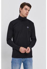 Pepe Jeans - Longsleeve bawełniany Wallo. Okazja: na co dzień. Typ kołnierza: golf. Kolor: czarny. Materiał: bawełna. Długość rękawa: długi rękaw. Wzór: gładki. Styl: casual