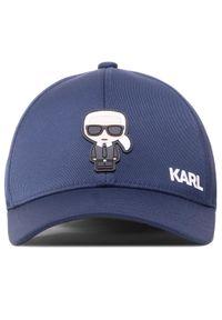 Niebieska czapka z daszkiem Karl Lagerfeld