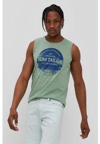 Zielony t-shirt Tom Tailor casualowy, na co dzień