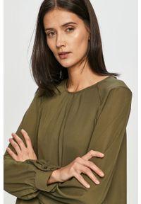 Oliwkowa bluzka Vero Moda gładkie, casualowa, z długim rękawem, na co dzień