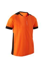 Koszulka do piłki nożnej KIPSTA krótka, z dekoltem w kształcie v, z krótkim rękawem, na lato