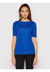 Lauren Ralph Lauren Bluzka 200654963118 Granatowy Regular Fit. Kolor: niebieski
