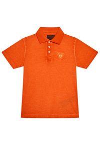 Pomarańczowy t-shirt polo Guess polo