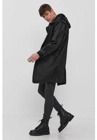 Czarna kurtka Brave Soul na co dzień, casualowa, z kapturem, gładkie