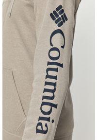 Szara bluza rozpinana columbia na co dzień, z kapturem, casualowa