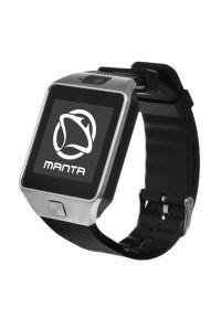 Szary zegarek Manta casualowy, smartwatch