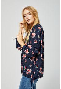 MOODO - Koszula z motywem kwiatowym. Materiał: poliester. Długość rękawa: długi rękaw. Długość: długie. Wzór: kwiaty