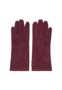 Czerwone rękawiczki Wittchen na jesień, z aplikacjami