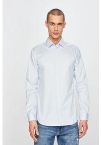 Niebieska koszula Selected casualowa, na co dzień, długa