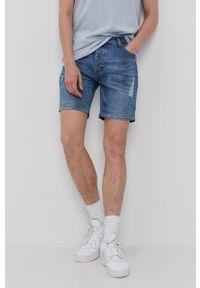 Brave Soul - Szorty jeansowe. Okazja: na co dzień. Kolor: niebieski. Materiał: jeans. Styl: casual