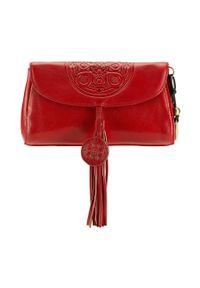Czerwona torebka Wittchen z aplikacjami, elegancka