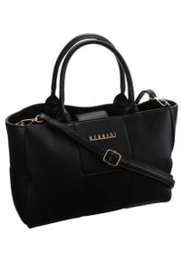 Torebka damska czarna Monnari BAG1270-020. Kolor: czarny. Materiał: skórzane. Styl: klasyczny, elegancki. Rodzaj torebki: na ramię