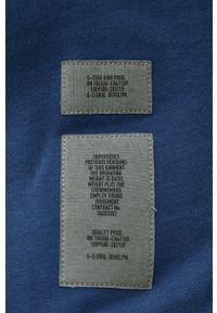 G-Star RAW - G-Star Raw - Bluza. Kolor: niebieski. Materiał: dzianina, materiał. Wzór: gładki #6