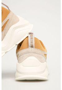 Beżowe buty sportowe Big-Star z cholewką, na sznurówki