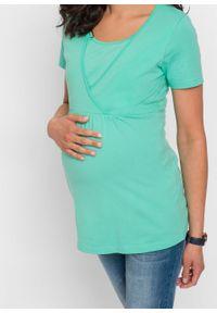 Niebieska bluzka bonprix moda ciążowa