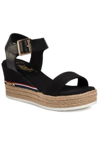 Czarne sandały U.S. Polo Assn