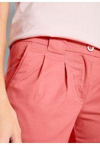 Różowe spodnie bonprix casualowe, z obniżonym stanem