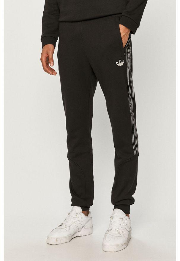 Czarne spodnie dresowe adidas Originals gładkie