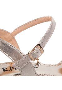 Złote sandały R.Polański eleganckie