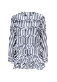 Sukienka Anais Jourden z falbankami, z nadrukiem, z długim rękawem, mini