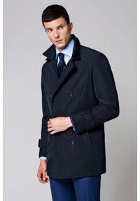 Niebieski płaszcz Lancerto na jesień, elegancki