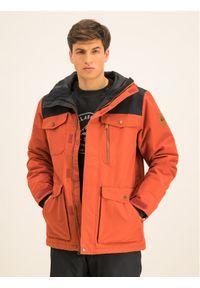 Czerwona kurtka sportowa Quiksilver snowboardowa