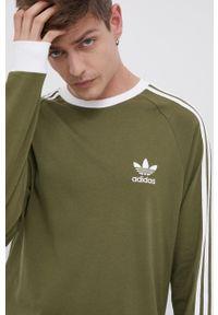adidas Originals - Longsleeve bawełniany. Okazja: na co dzień. Kolor: zielony. Materiał: bawełna. Długość rękawa: długi rękaw. Styl: casual