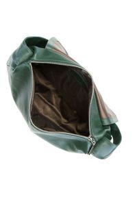 Zielona torebka worek Wittchen casualowa