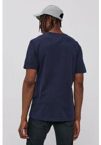 Tommy Jeans - T-shirt bawełniany. Kolor: niebieski. Materiał: bawełna. Wzór: aplikacja