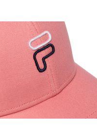 Fila - Czapka z daszkiem FILA - 6 Panel Cap F Outline Logo 686025 Shell Pink A430. Kolor: różowy. Materiał: materiał, bawełna