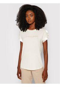 Guess T-Shirt Marlena W1YI0A K46D1 Beżowy Regular Fit. Kolor: beżowy