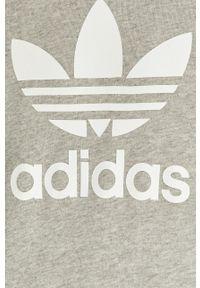 Szara bluza nierozpinana adidas Originals casualowa, na co dzień
