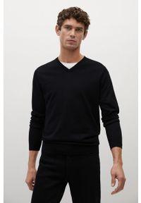 Czarny sweter Mango Man z długim rękawem, długi, na co dzień