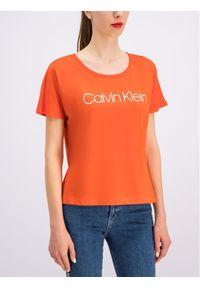 Pomarańczowy t-shirt Calvin Klein