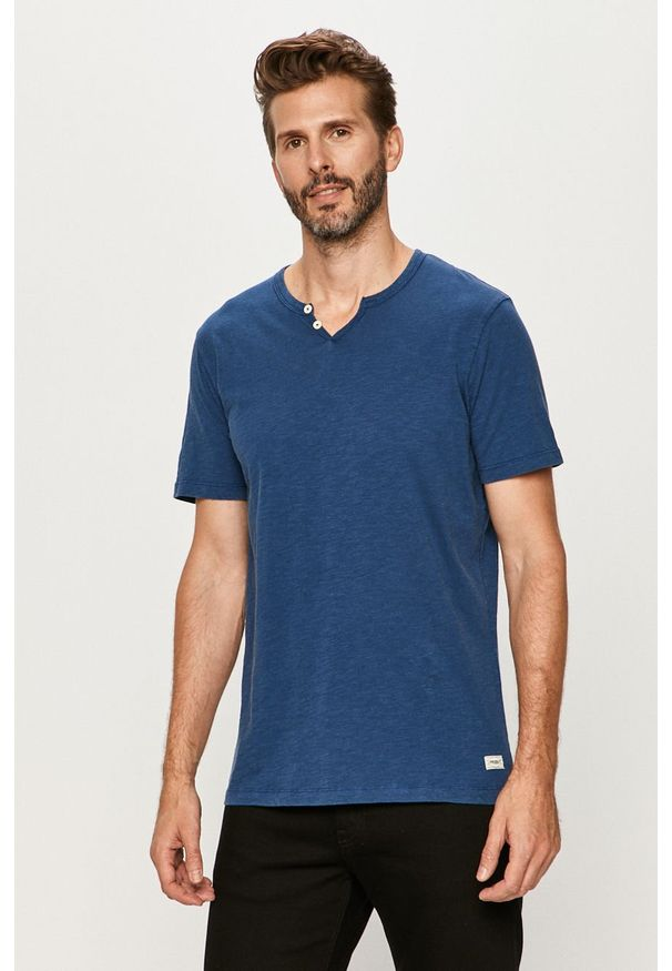 Niebieski t-shirt PRODUKT by Jack & Jones na co dzień, casualowy, krótki