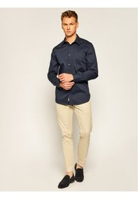 Niebieska koszula biznesowa Guess