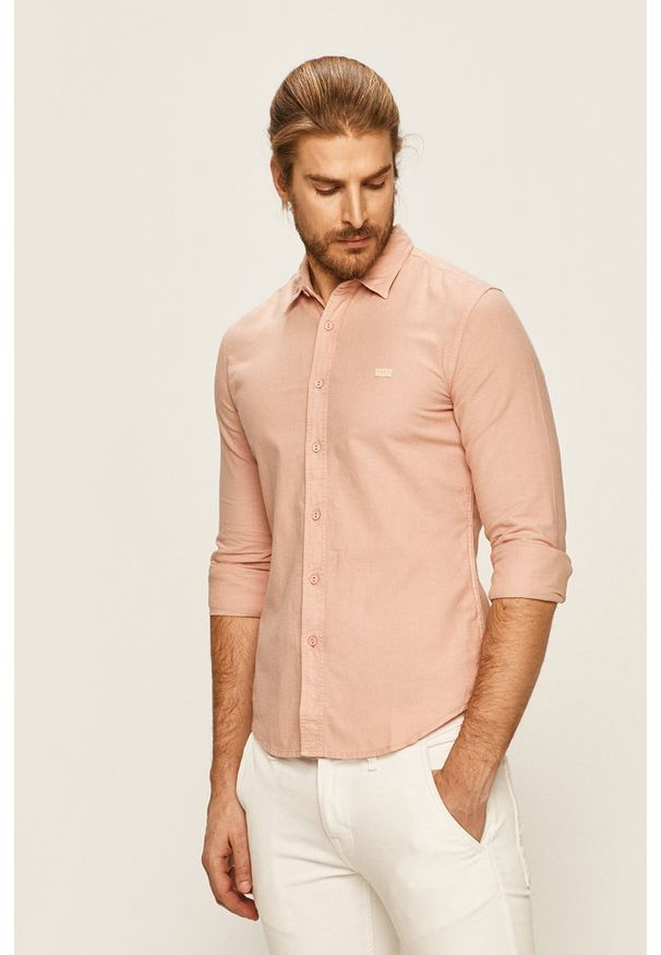 Różowa koszula Levi's® z klasycznym kołnierzykiem, w kolorowe wzory, casualowa