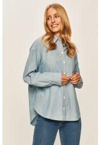Niebieska koszula Levi's® na spotkanie biznesowe, klasyczna, z klasycznym kołnierzykiem, długa