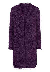 Fioletowy sweter Cellbes w kolorowe wzory, elegancki, długi
